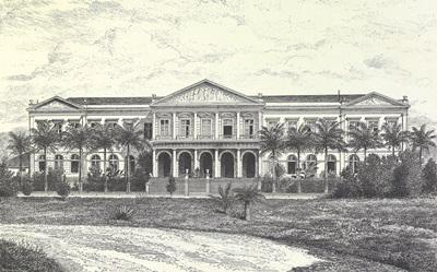 Prédio onde funcionou a Casa da Moeda do Brasil (1868-1983), que se tornou sede do Arquivo Nacional, após sua restauração em 2004.